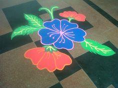 rangoli design - simple and pretty