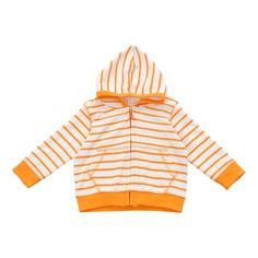 hoodie in orange marseille stripe