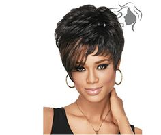 Longlove European and American Female Short Blonde Wig Synthetic Wigs Wavy Wig Fluffy Fluffy wig 6 *** To view further for this article, visit the image link. #HairWigs