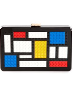 Build your collection in a playful way with this mondrian clutch from Les Petits Joueurs. Snatching the attention by way of its Lego block front, this is a totally unique piece that will bring character to your choice of ensemble. Mondrian Dress, Mondrian Art, Bauhaus, Michael Kors Designer, Latest Handbags, Fashion Handbags, Designer Clutch, Designer Handbags, Beautiful Handbags