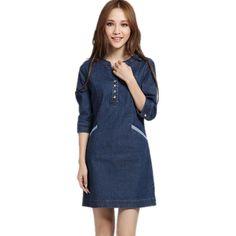 53a7b850ff04 Women Fashion Celebrity Cute Denim Dress. Celebrity NewsCelebrity StyleNew  ...