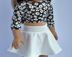 18 inch Doll kleren Sage groen Crop Top met door CircleCSewing