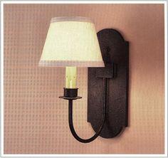 "3063  IRON WALL LAMP HT 17"" W 8"" PROJ 12"""