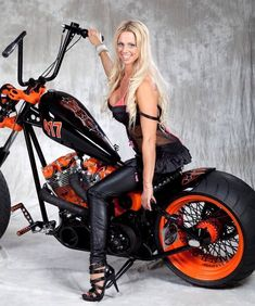 Ignore the blonde prop. Check out that bike!!!!!!!!