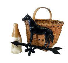Vintage Horse Weathervane Primitive Style Decor