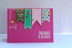 Thanks A Bunch - by Wendy Morris using product from American Crafts. #cards #cardmaking #paper #stamping