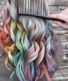 Exotic Hair Color, Hair Color Purple, Hair Dye Colors, Cool Hair Color, Light Purple Hair Dye, Amazing Hair Color, Pastel Hair Colors, Peekaboo Hair Colors, Unicorn Hair Color