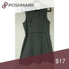"""Crown and Ivy black and white striped dress Black and white striped, 100 % knit, 32"""" long , 18"""" pit to pit Dresses Midi"""