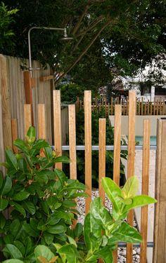 Random length timer batten fence. Formed Gardens