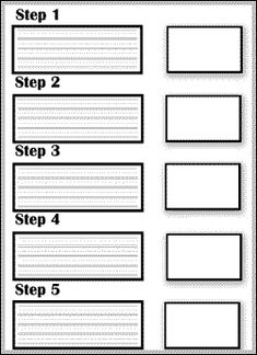 Instructions Writing Steps Graphic Organizer: large lines