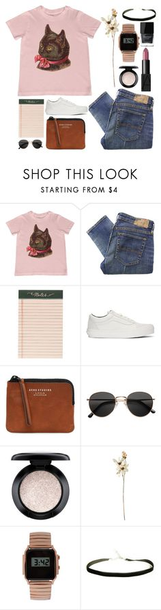 """""""#553"""" by soja-nirvana ❤ liked on Polyvore featuring Denim & Supply by Ralph Lauren, Rifle Paper Co, Vans, Acne Studios, H&M, NARS Cosmetics, MAC Cosmetics, Coach House, ASOS and Butter London"""