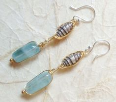 Smooth Aquamarine Blue Beads Thai Silver by NakedPlanetJewelry, $48.00