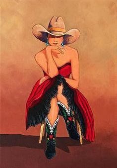 Cowgirl Art and Western Paintings, Art, and Prints Danse Country, Chapeau Cowboy, Vaquera Sexy, Westerns, Estilo Cowgirl, Vintage Cowgirl, Southwestern Art, Cowboys And Indians, Cowboy And Cowgirl