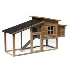 Poulailler Kivu en bois FSC : Taupe L175xl58xH92 cm