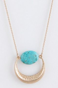 Oval Semi-precious stone pendant