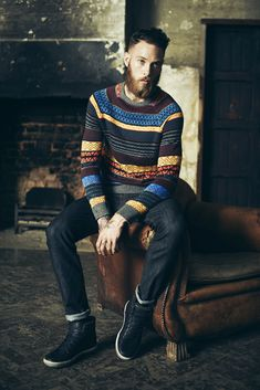 Yes. Just yes. We like this understated, if slightly hipster, look. Stripe Jumper dark indigo jeans. Beard. Yes!