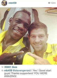 Balotelli and the captain