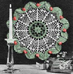 Christmas Doily   AllFreeCrochet.com