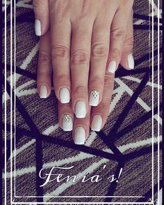 Shellac cnd white nails