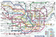 16 Maps Of Tokyo That'll Make Your City Seem Insignificant