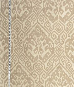 Brown beige ikat fabric ethnic upholstery from Brick House Fabric: Novelty Fabric