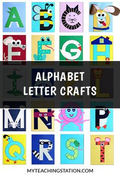 Alphabet letter crafts are an excellent activity to add to your letter of the week studies for children in preschool and kindergarten.