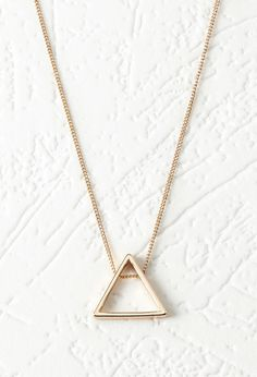Cutout Triangle Pendant Necklace | Forever 21 Canada