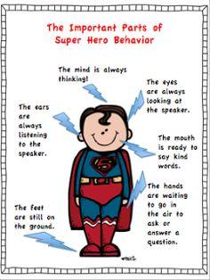Climbing the Monkey Bars: What Does Super Hero Behavior Look Like? Day 4 Freebie!