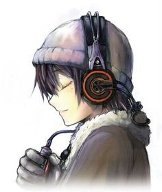 Anime Boy With Headphones