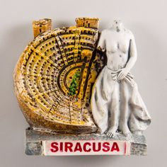 Resin Fridge Magnet: Italy. Roman Amphitheatre in Syracuse