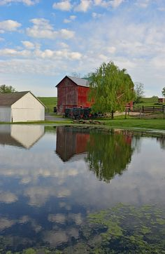 All is quiet on a warm summer day in Amish Country. CLICK HERE for more about Ohio's Amish Country at www.OACountry.com! #Amish #Ohio #Tourism (Doyle Yoder photo)