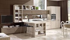 Looking for a Contemporary or European Kitchen in Sydney? Eurolife has been providing reliable Contemporary Kitchens design services in Sydney Contemporary Kitchen Design, Drawer Unit, Base Cabinets, Living Area, Kitchen Decor, Kitchen Ideas, Corner Desk, Sweet Home, House