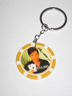 Phil Hellmuth $10,000 Poker Chip Keychain Free Shipping!