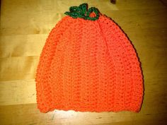 A mini pumpkin hat for Halloween.