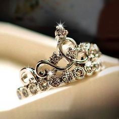 Hot Sale 925 Sterling Silver Crown Women's Ring