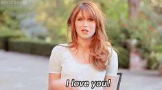 Jennifer Lawrence dizendo eu te amo