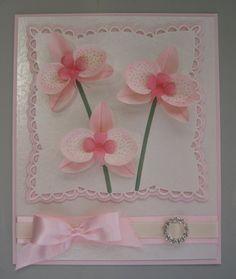 Dies used: Orchid 1 Dee's Distinctively Dies Flower Stems Dee's Distincetively Dies Anja's Squares Marianne Creatables