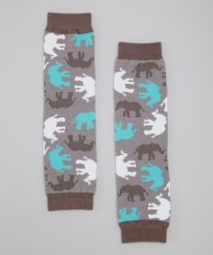 Another great find on #zulily! Lotus Bumz Gray Elephants Leg Warmers by Lotus Bumz #zulilyfinds