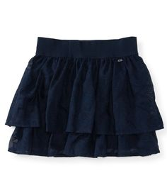 Its gunna look so cute with new combat boots hahaha  Solid Burnout Woven Skirt - Aeropostale