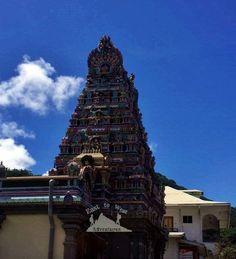 Hindu temple 💙 Victoria in Africa 🌴🌺مدينة فيكتوريا،سيشيل رائعة To know more about our trip to the Seychelles check the blog لمعرفة المزيد عن رحلتنا إلى جزر السيشيل  يمكنك قراءة المدونة على الرابط  http://www.easttowestadventures.com/en/seychelles-tropical/ #easttowestadventures #travelblogger  #travelphotographer #seychelles #honeymoon #beach #beachholiday #victoriacity #library #bigben #avaniseychellesbarbaronsresortandspa #africa #blogger #paradise #holidayfactory #holidayfactoryuae