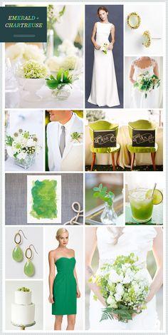 Emerald + Chartreuse Wedding Inspiration