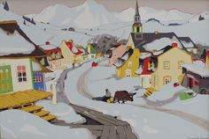 Clarence Gagnon, 'Village in the Laurentians' at Mayberry Fine Art
