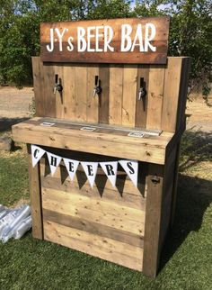 You can make this small beer bar by using the recycled pallet woods. This project would only take one or two days in construction. You would have to make a tank in it to put beer and then with taps fixed in this project, you can pour the beer into your glass.