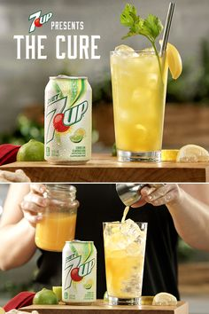 Mix up The Cure, made with 7UP®, for whatever ails you. Mix freely, drink responsibly.