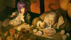 The Major & Batou eatin' some ramen.. :D  image credit Hellstern