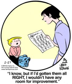Family Circus for 2/27/2015 | Family Circus | Comics | ArcaMax Publishing Family Circus Cartoon, Hagar The Horrible, Teacher Humor, Family Circle, Smile Captions, Funny Comics, Comic Strips, Laugh Out Loud, The Funny
