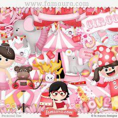 Kit - Circo Rosa by Fa Maura