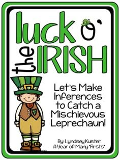 St. Patrick's Day Making Inferences Activities (Use clues to catch a leprechaun!)