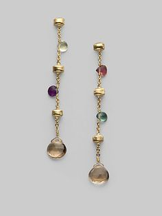 bcf28e6214f Marco Bicego - Multi-Stone 18K Yellow Gold Earrings - Saks.com Gold Drop