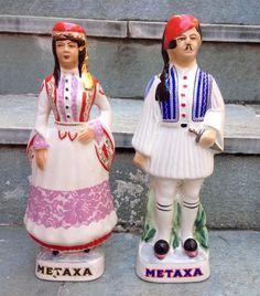Porcelain Greek bottles made for Brandy Metaxa Harajuku, Bottles, Greek, Porcelain, Style, Fashion, Swag, Moda, Porcelain Ceramics